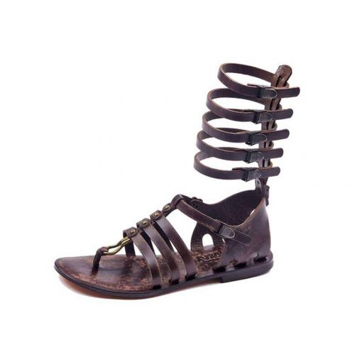 handmade leather gladiator sandals, comfortable and cheap sandals. Brown sandals for womens.