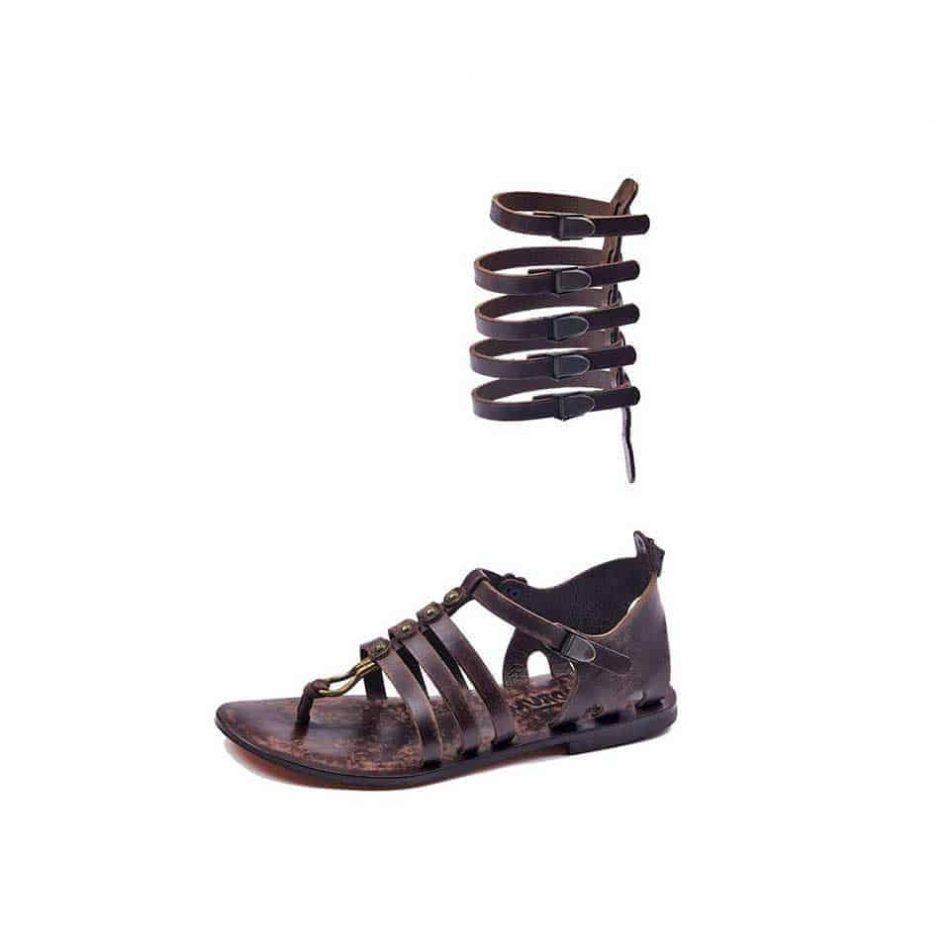 gladiator sandals brown 613 4 950x950 - Handmade Leather Gladiator Sandals 613