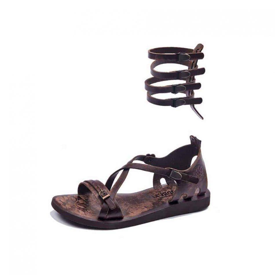 gladiator sandals brown 616 2 950x950 - Handmade Leather Gladiator Sandals 616