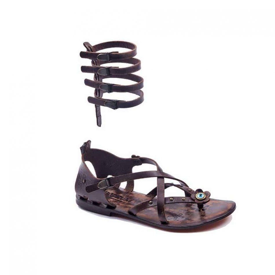 handmade leather gladiator brown womens sandals 601 2 950x950 - Handmade Leather Gladiator Sandals 601