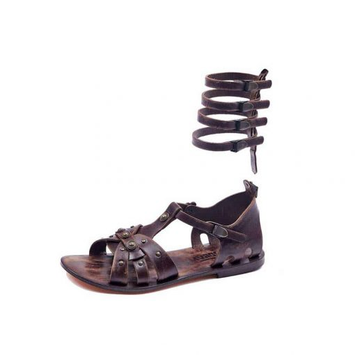 handmade leather gladiator brown womens sandals 612 4 510x510 - Handmade Leather Gladiator Sandals 612