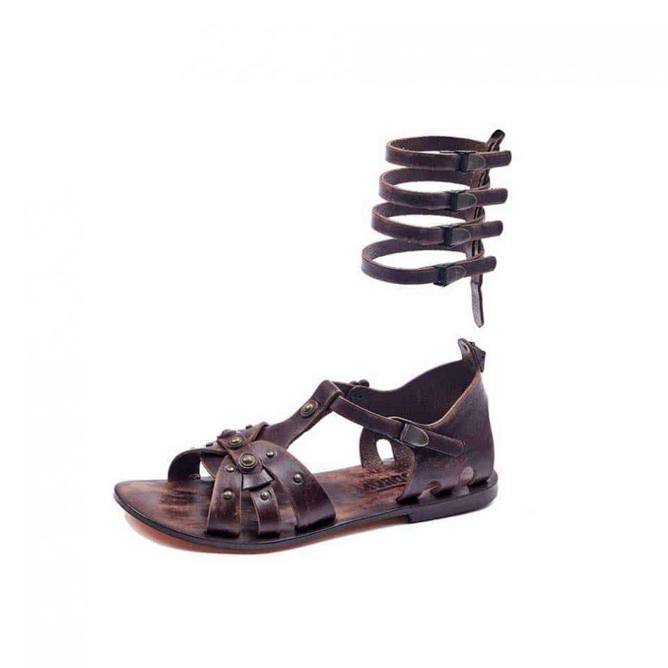 handmade leather gladiator brown womens sandals 612 4 950x950 - Handmade Leather Gladiator Sandals 612