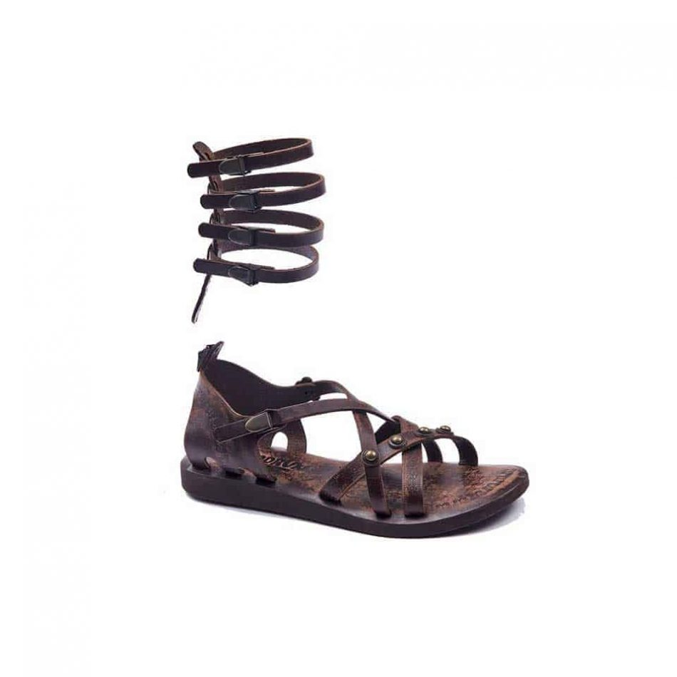 handmade leather gladiator brown womens sandals 615 4 950x950 - Handmade Leather Gladiator Sandals 615