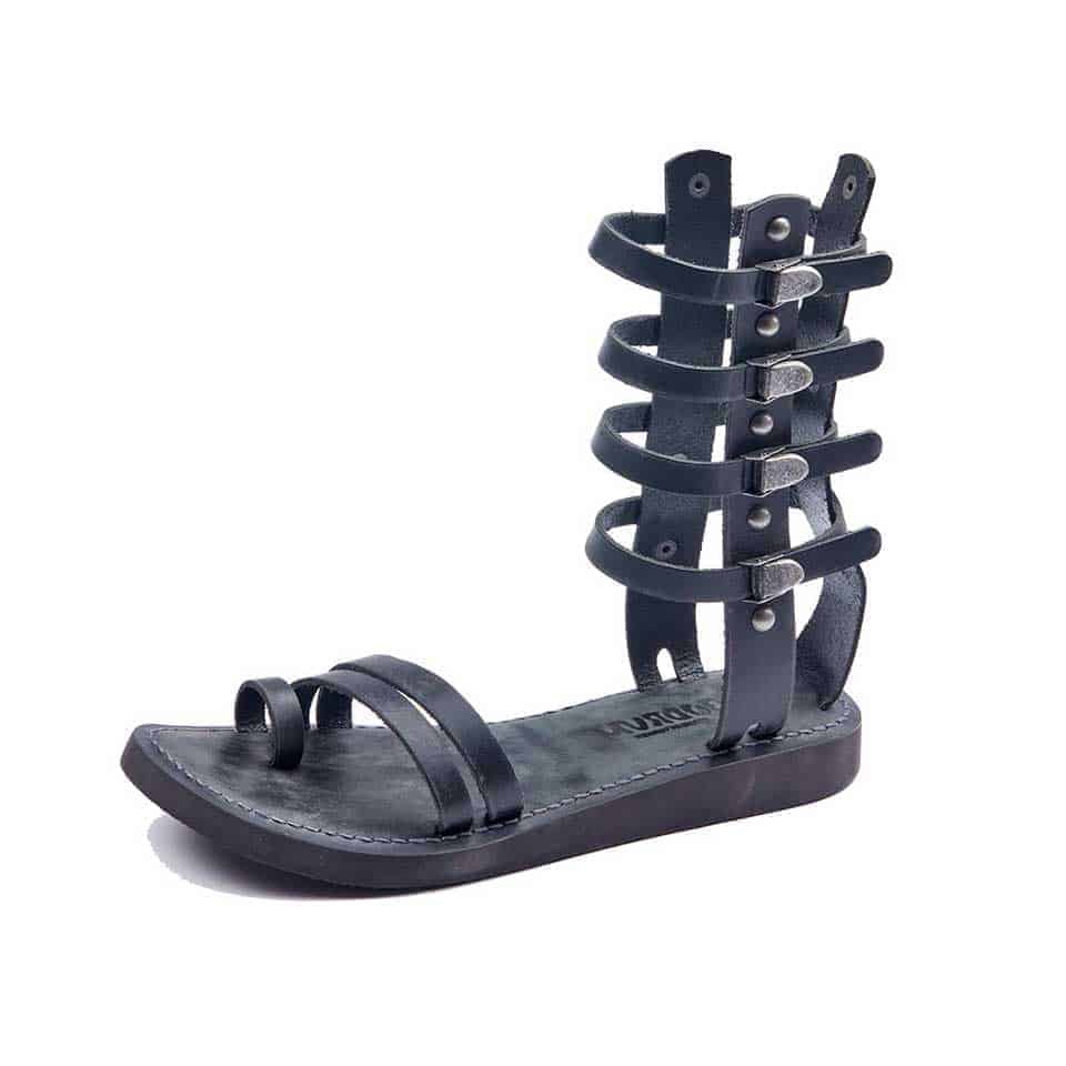 95a7a474f12dc Handmade Leather Gladiator Sandals Black 507