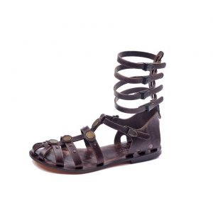 handmade-leather-gladiator-strappy-brown-women-sandals-cheap-comfortable-cute-sandals-610 (1)