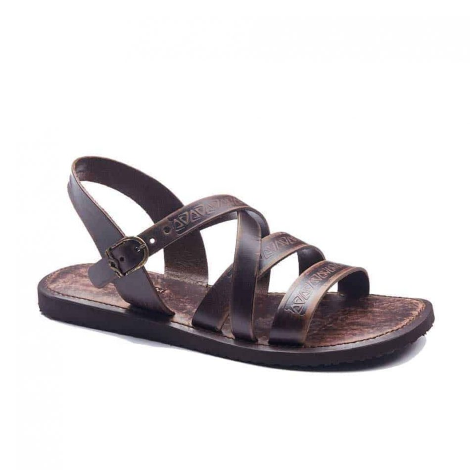 handmade leather mens sandals 1947 1 950x950 - Handmade Mens Strappy Leather Sandals Open Toe
