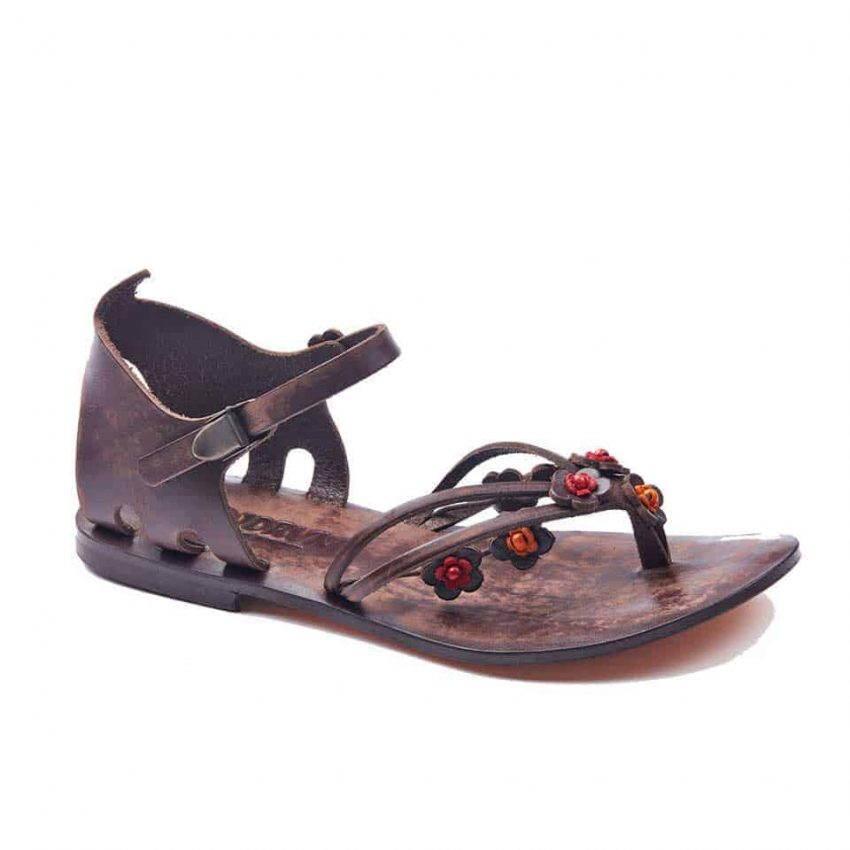 handmade leather womens brown sandals 604 1 850x850 - Handmade Leather Bodrum Sandals Women