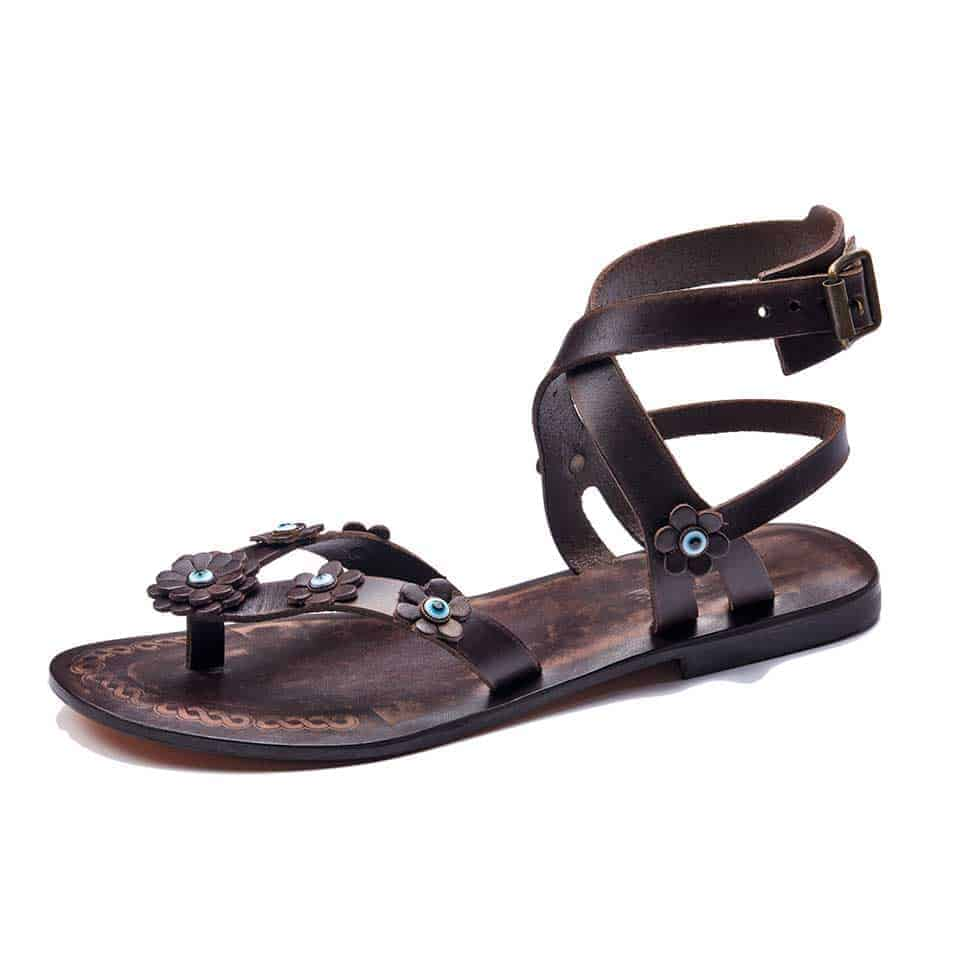 ad88e78eb0a5ae Feel the comfort and be chic.The simplicity of leather and detailed  craftsmanship make them unique sandals. Chic   Cheap Ankle Wrap leather  sandals.
