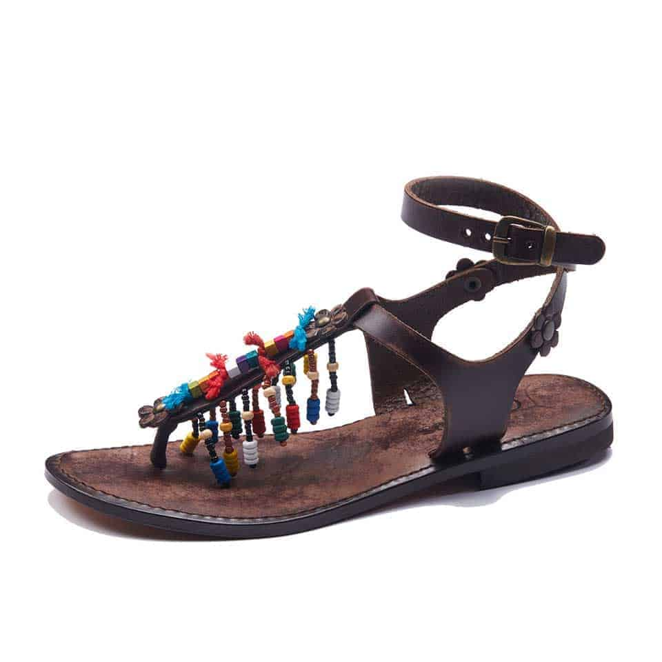 1aafcbcaa35ee1 Womens Fancy Leather Ankle Wrap Sandals - Best Price
