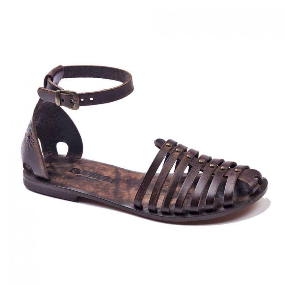 handmade leather womens sandals 603 950x950 - Handmade Leather Closed Toe Ankle Wrap Womens Sandals