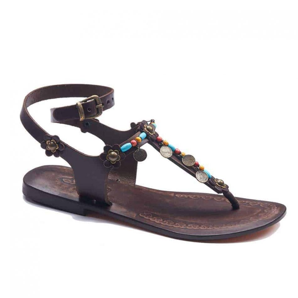 handmade leather womens sandals 716 1 950x950 - Handmade Leather Ankle Wrap Womens Sandals