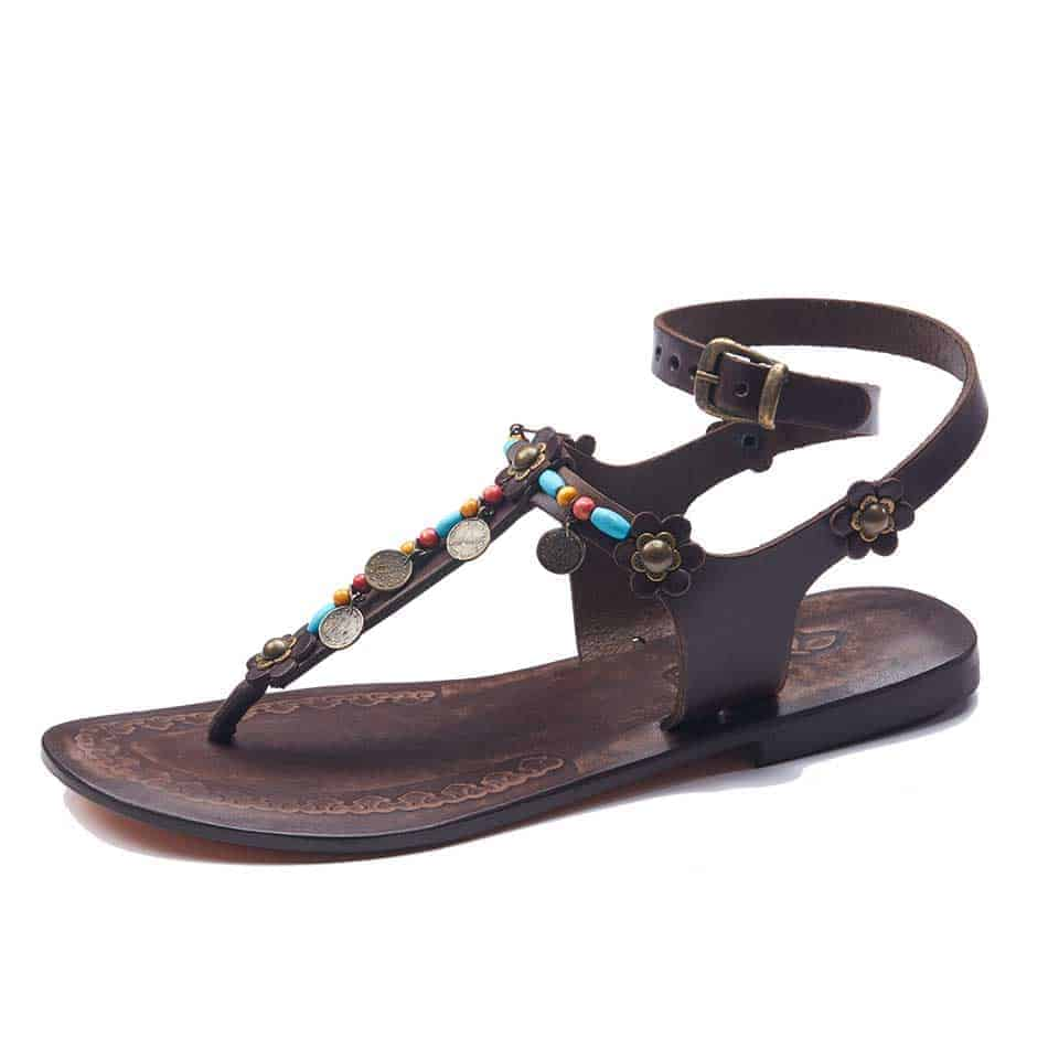 e440bc14153e9e Womens Brown Strappy Sandals- Buy Leather Sandals Online Shopping
