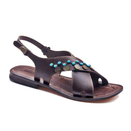 handmade leather womens sandals 718 1 510x510 - Handmade Leather Bodrum Sandals Women