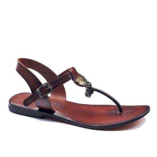 handmade leather womens tan sandals 236 2 510x510 - Handmade Leather Bodrum Sandals Women