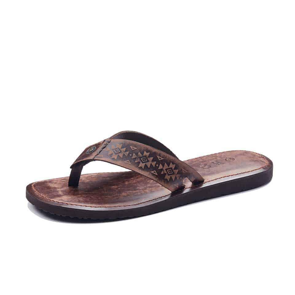 f408998702815 Handmade Leather Flip Flops Slippers Sandals For Men