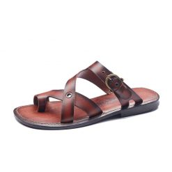Brown mens leather sandals