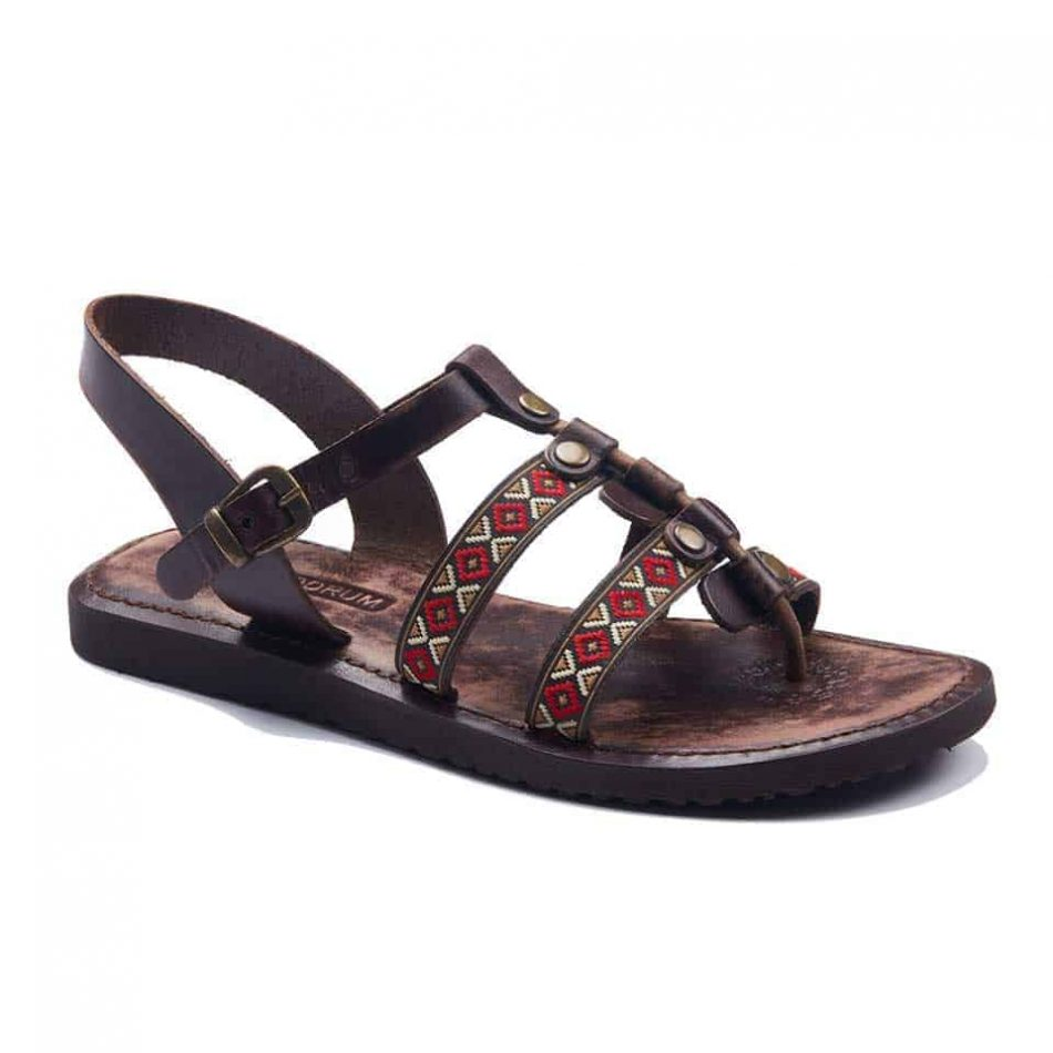 womens sandals2 950x950 - Boho Style Leather Bodrum Sandals Women