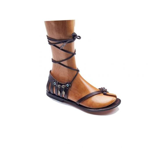 handmade leather sandals womens leather sandals 2 510x510 - Handmade Leather Strappy Sandals