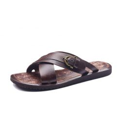 Mens leather sandals online