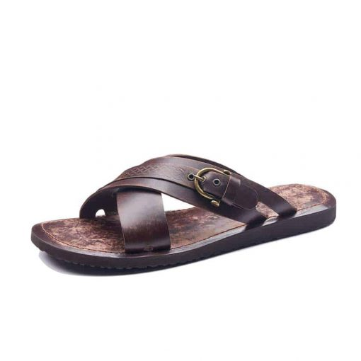 Mens leather sandals online