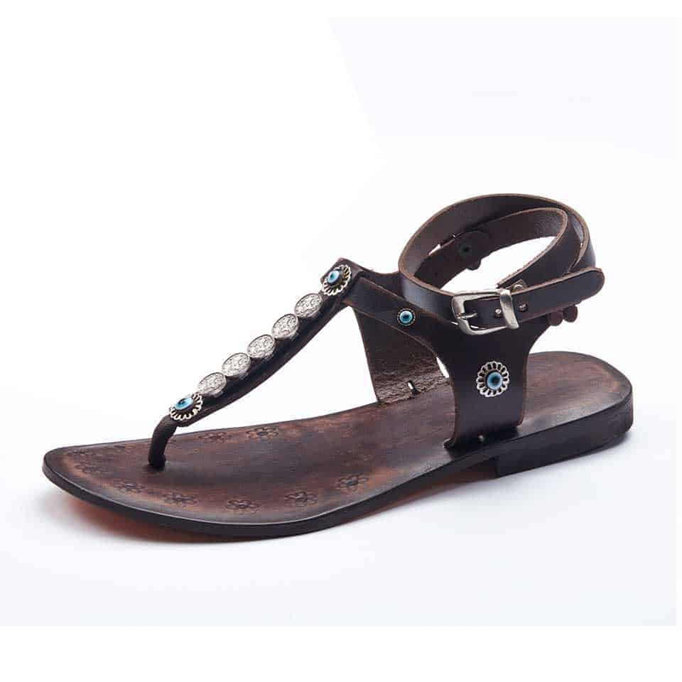 55ed59b68861 summer leather sandals with cute ankle wrap straps for women and ladies  online shopping