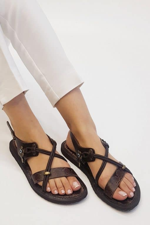 buy women leather sandals