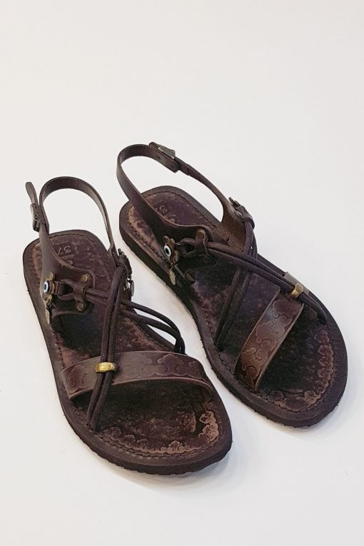 Womens Leather Flat Sandals 4 510x765 - Women's Leather Flat Sandals