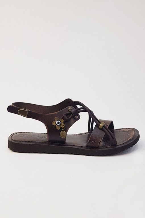 Womens Leather Flat Sandals 5 510x765 - Women's Leather Flat Sandals