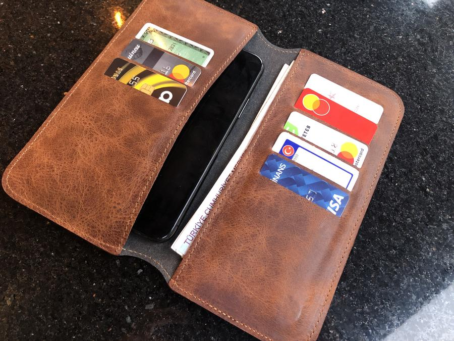 Leather Phone Case Wallet Engrave Customize Personalized Walled 12 - Leather Phone Case Wallet