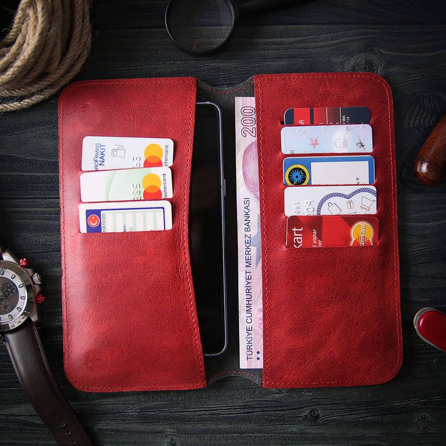 Leather Phone Case Wallet Engrave Customize Personalized Walled 4 - Leather Phone Case Wallet