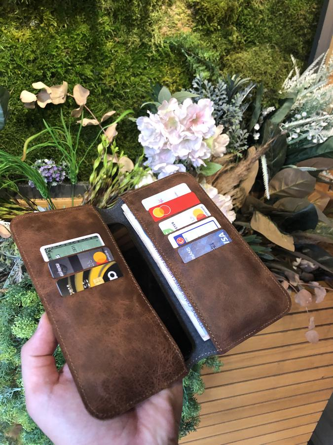 Leather Phone Case Wallet Engrave Customize Personalized Walled 5 - Leather Phone Case Wallet