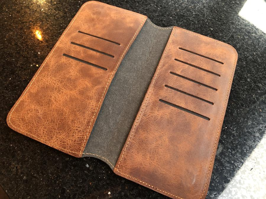 Leather Phone Case Wallet Engrave Customize Personalized Walled 6 - Leather Phone Case Wallet