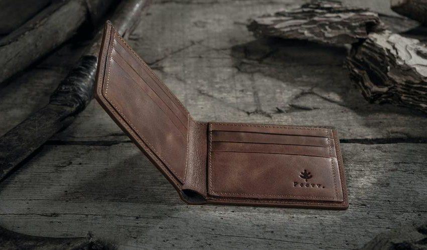 slim leather wallet mens