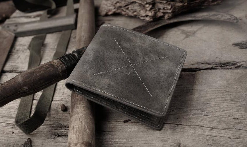 black and red wallet
