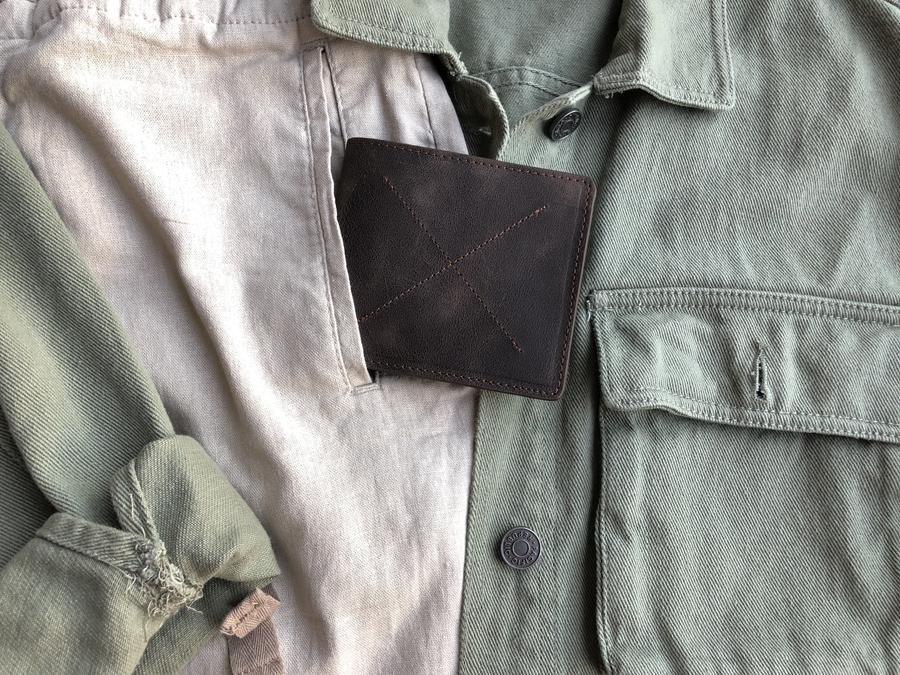 black card holder wallet