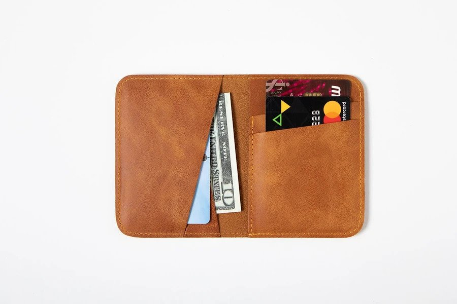 Swiss Wallet Slim and Minimal Mens Leather Wallet Camel 2 - Swiss Wallet - Slim and Minimal Men's Leather Wallet