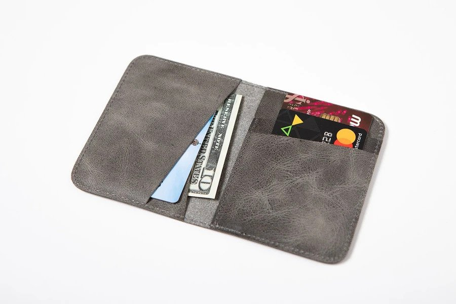 Swiss Wallet Slim and Minimal Mens Leather Wallet Gray 1 - Swiss Wallet - Slim and Minimal Men's Leather Wallet