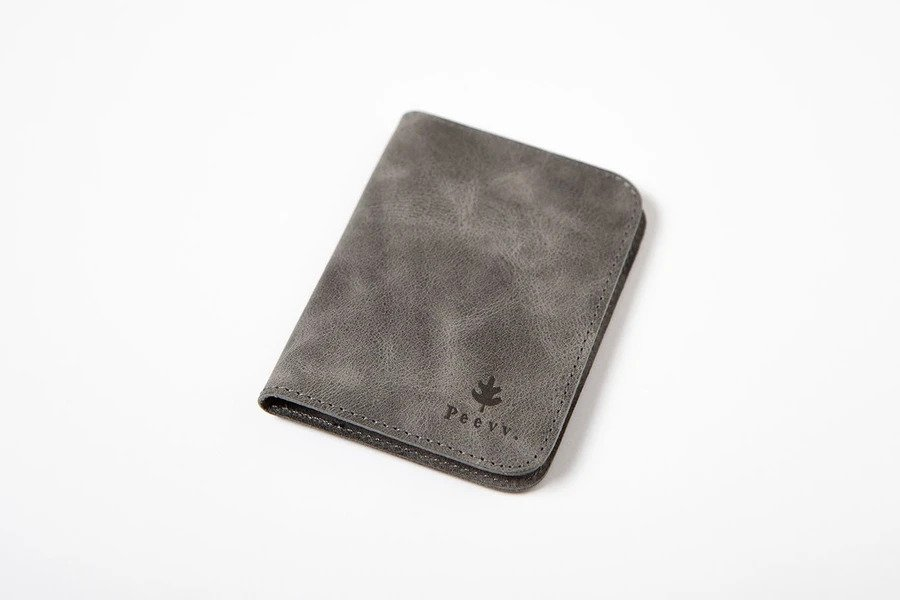 Swiss Wallet Slim and Minimal Mens Leather Wallet Gray 3 - Swiss Wallet - Slim and Minimal Men's Leather Wallet