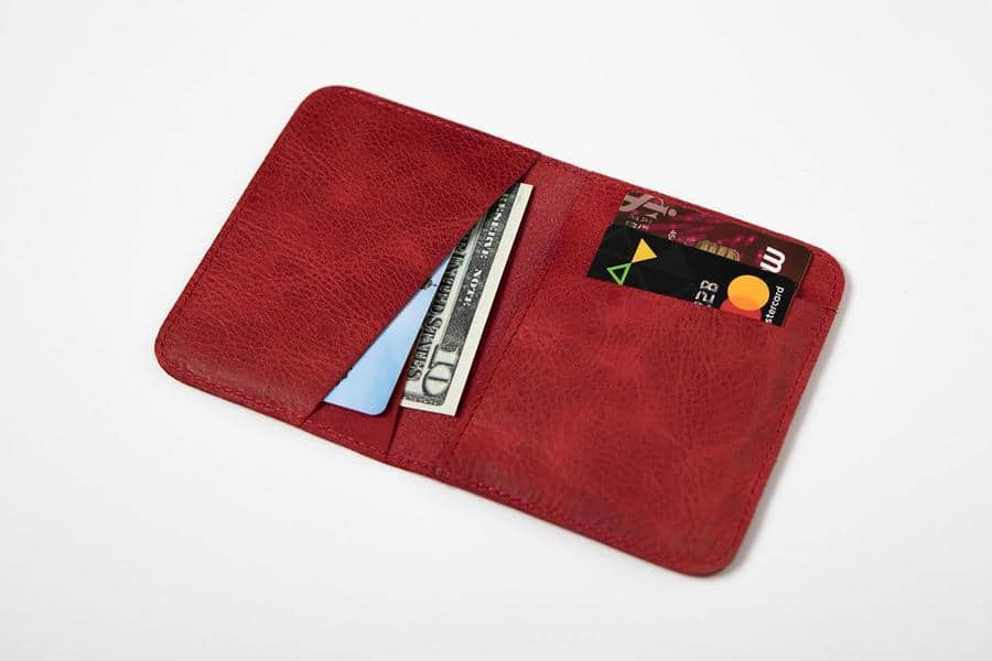 Swiss Wallet Slim and Minimal Mens Leather Wallet Red 1 - Swiss Wallet - Slim and Minimal Men's Leather Wallet