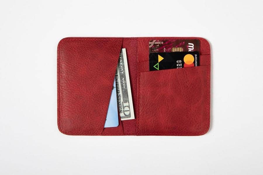 Swiss Wallet Slim and Minimal Mens Leather Wallet Red 2 - Swiss Wallet - Slim and Minimal Men's Leather Wallet