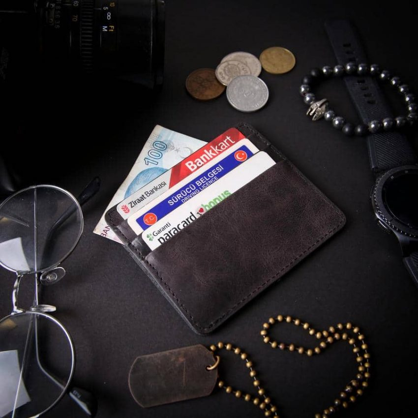 billfold leather wallet black card holder seul 4 850x850 - Leather Card Holder Seul