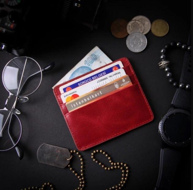 navy blue wallet